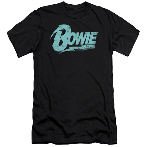 David Bowie Special Order Logo Men's Premium Ultra-Soft 30/1 100% Cotton Slim Fit T-Shirt - Eco-Friendly - Made In The USA