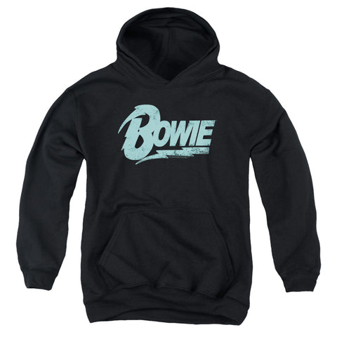 David Bowie Special Order Logo Youth 50% Cotton 50% Poly Pull-Over Hoodie