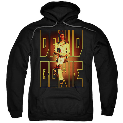 David Bowie Special Order Perched Men's Pull-Over 75% Cotton 25% Poly Hoodie