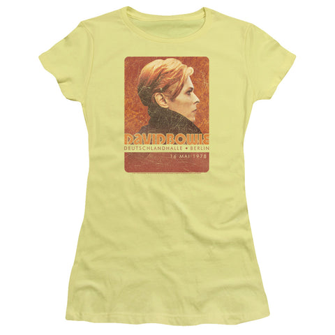 David Bowie Special Order Stage Tour Berlin 78 Junior's 30/1 100% Cotton Cap-Sleeve Sheer T-Shirt