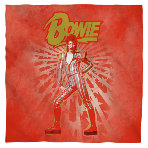 David Bowie Special Order Stars 100% Polyester Bandana - 21 x 21 inches - 1-Sided