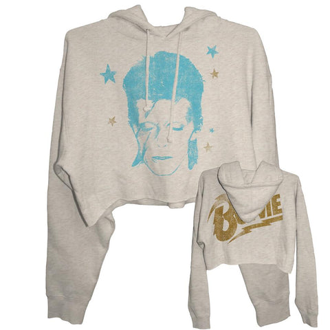 David Bowie Zen Sane Oatmeal Junior's Hoodie