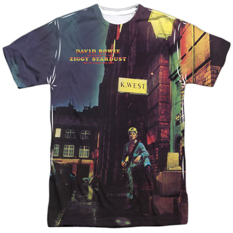 David Bowie Special Order Ziggy Star Dust Men's Regular Fit 100% Polyester Short-Sleeve T-Shirt