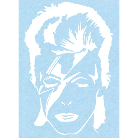 David Bowie Ziggy Stardust Rub-On Sticker - White
