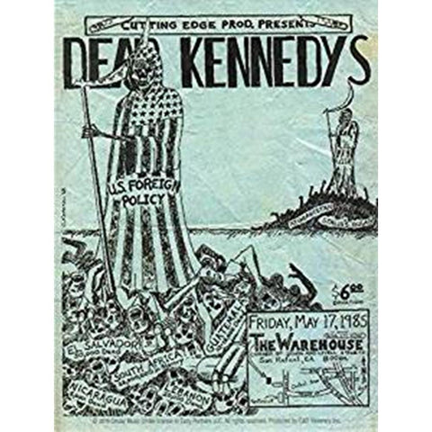 Dead Kennedys Concert Poster Sticker