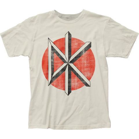 Dead Kennedys Distressed Logo fitted white jersey tee