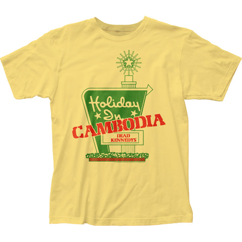 Dead Kennedys Holiday In Cambodia fitted jersey tee