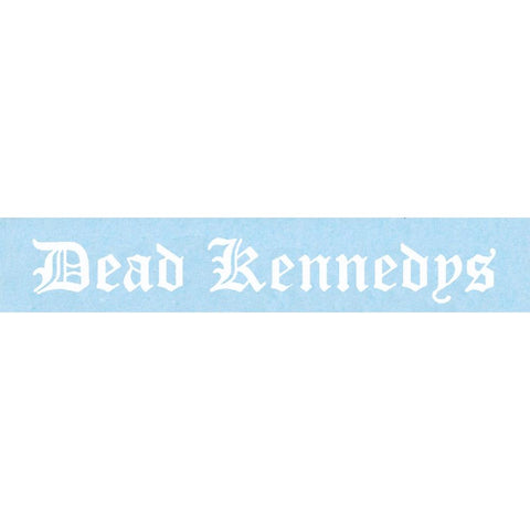 Dead Kennedys White Logo Rub-On Sticker