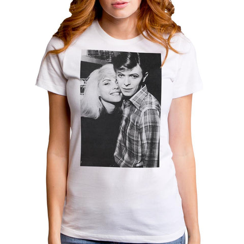 Debbie Harry David & Debbie White S/S Junior Crew T-Shirt