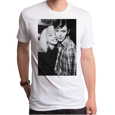 Debbie Harry David & Debbie White S/S Men's Crew T-Shirt