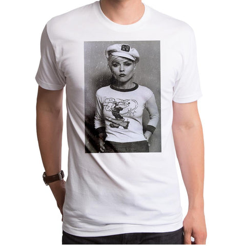 Debbie Harry Sailor Debbie  White  S/S Men's Crew T-Shirt