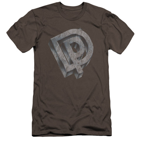 Deep Purple Special Order Dp Logo Men's Premium Ultra-Soft 30/1 100% Cotton Slim Fit T-Shirt - Eco-Friendly - Made In The USA