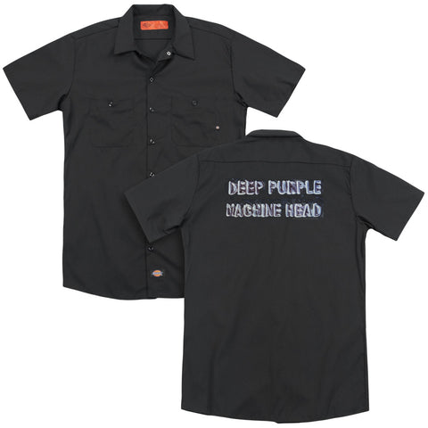 Deep Purple Special Order Machine Head (Back Print) Men's 35% Cotton 65% Poly Short-Sleeve Work Shirt