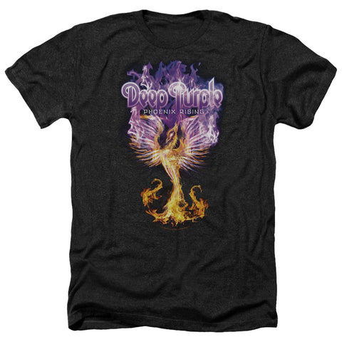 Deep Purple Special Order Phoenix Rising Men's 30/1 Heather 60% Cotton 40% Poly Short-Sleeve T-Shirt
