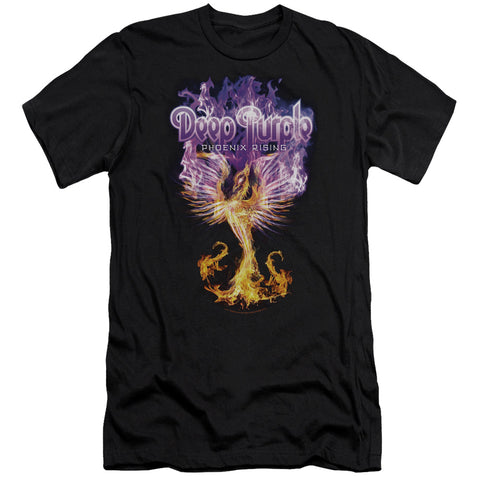 Deep Purple Special Order Phoenix Rising Men's Premium Ultra-Soft 30/1 100% Cotton Slim Fit T-Shirt - Eco-Friendly - Made In The USA