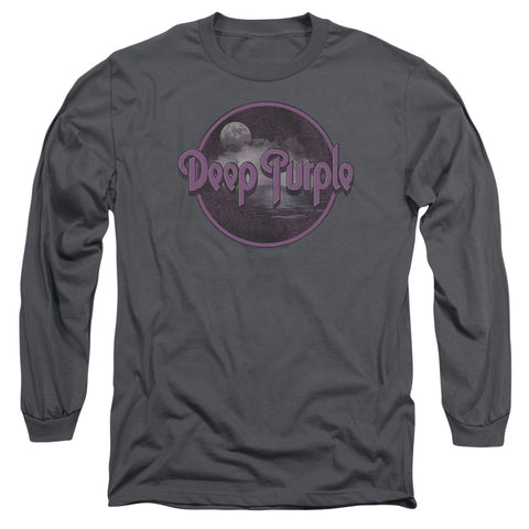 Deep Purple Special Order Smoke On The Water Men's 18/1 Long Sleeve 100% Cotton T-Shirt