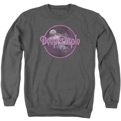 Deep Purple Special Order Smoke On The Water Men's Crewneck 50% Cotton 50% Poly Long-Sleeve Sweatshirt
