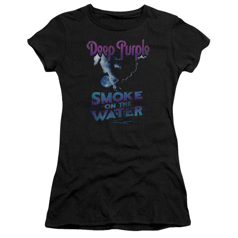 Deep Purple Special Order Smokey Water Junior's 30/1 100% Cotton Cap-Sleeve Sheer T-Shirt