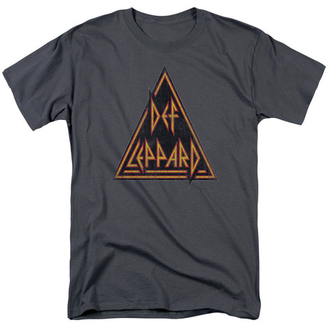 Def Leppard Special Order Distressed Logo Men's 18/1 100% Cotton Short-Sleeve T-Shirt
