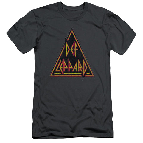 Def Leppard Special Order Distressed Logo Men's 30/1 100% Cotton Slim Fit Short-Sleeve T-Shirt