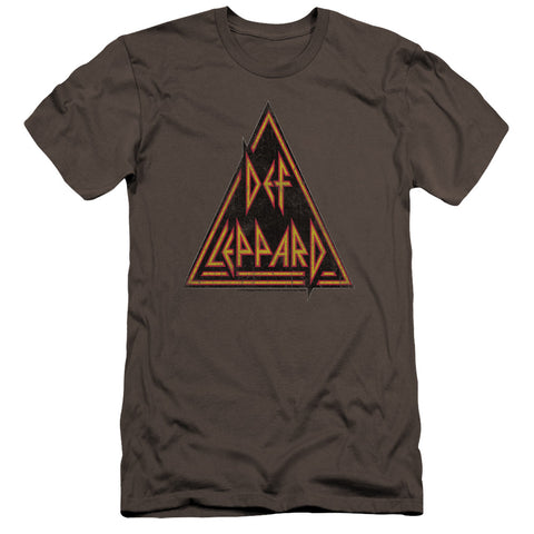 Def Leppard Special Order Distressed Logo Men's Premium Ultra-Soft 30/1 100% Cotton Slim Fit T-Shirt - Eco-Friendly - Made In The USA