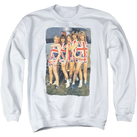 Def Leppard Special Order Flag Photo Men's Crewneck 50% Cotton 50% Poly Long-Sleeve Sweatshirt
