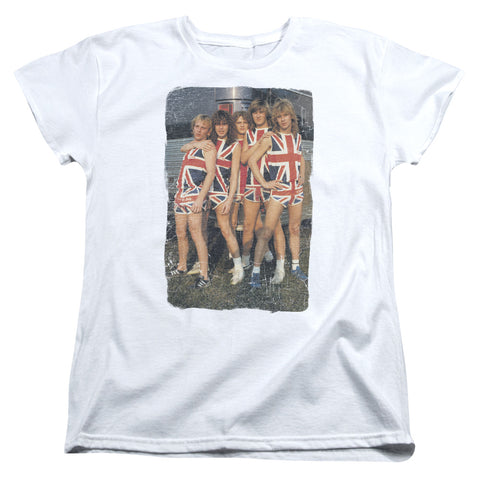 fac67fdc1 Def Leppard Special Order Flag Photo Women's 18/1 100% Cotton Short-Sleeve