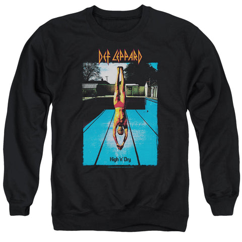 Def Leppard Special Order High N Dry Men's Crewneck 50% Cotton 50% Poly Long-Sleeve Sweatshirt