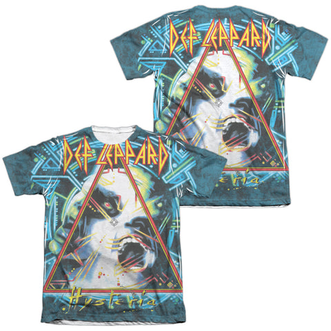 Def Leppard Special Order Hysteria (Front/Back Print) Men's Regular Fit 65% Poly 35% Cotton Short-Sleeve T-Shirt