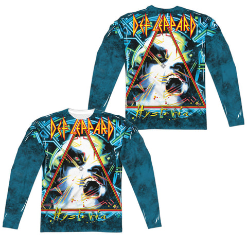 Def Leppard Special Order Hysteria (Front/Back Print) Men's Regular Fit 100% Polyester Long-Sleeve T-Shirt