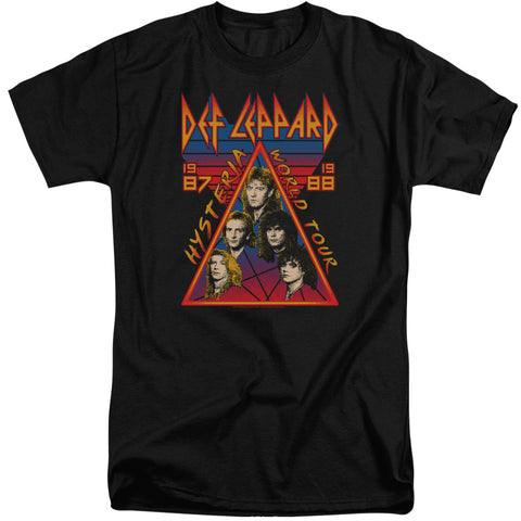 Def Leppard Special Order Hysteria Tour Men's 18/1 Tall 100% Cotton Short-Sleeve T-Shirt