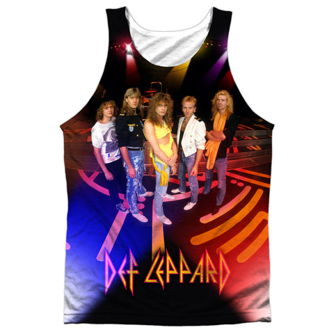 Def Leppard Special Order On Stage Men's Regular Fit 100% Polyester Tank Top