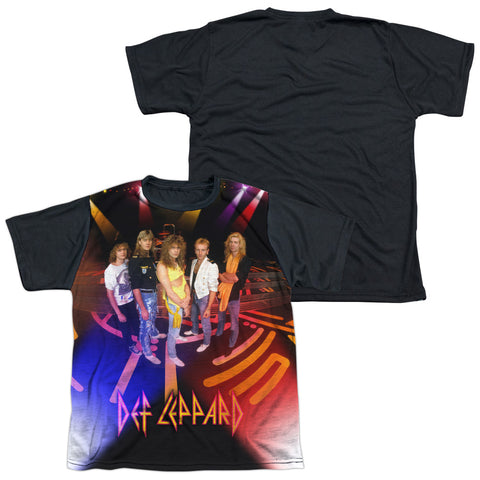 Def Leppard Special Order On Stage Youth Black Back 100% Polyester Regular Fit Short Sleeve T-Shirt