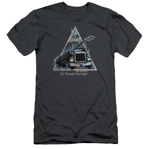 Def Leppard Special Order On Through The Night Men's 30/1 100% Cotton Slim Fit Short-Sleeve T-Shirt