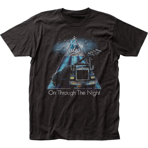 Def Leppard On Through The Night Men's Fitted Jersey T-Shirt