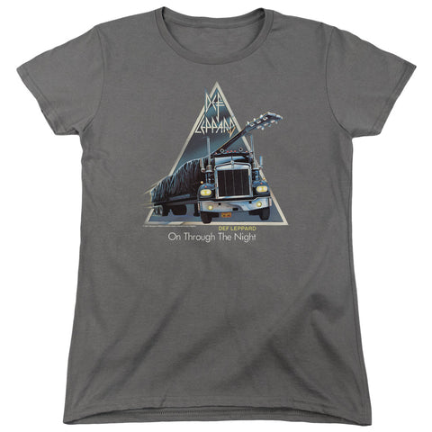 Def Leppard Special Order On Through The Night Women's 18/1 100% Cotton Short-Sleeve T-Shirt