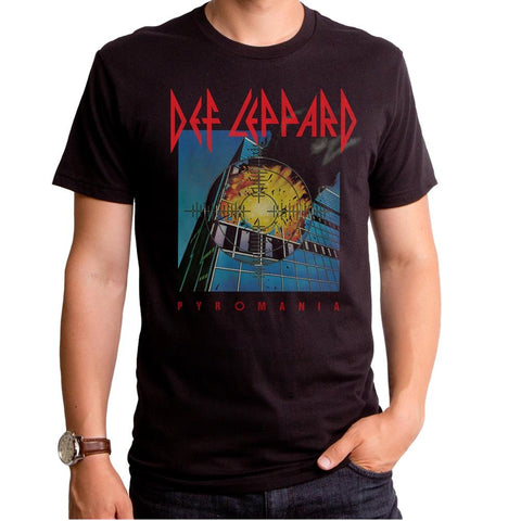 Def Leppard Pyromania Cover Men's Premium Soft T-Shirt