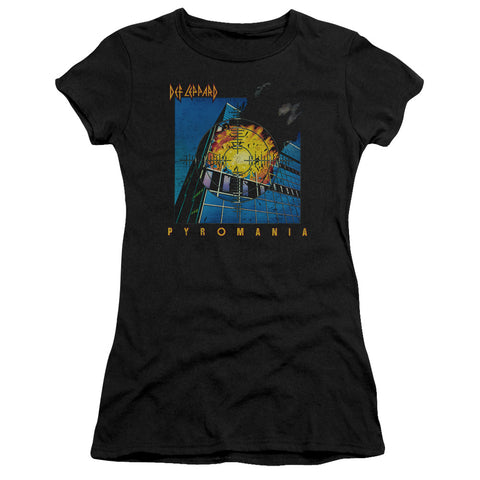 Def Leppard Special Order Pyromania Junior's 30/1 100% Cotton Cap-Sleeve Sheer T-Shirt