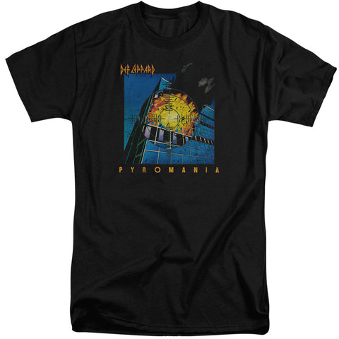 Def Leppard Special Order Pyromania Men's 18/1 Tall 100% Cotton Short-Sleeve T-Shirt