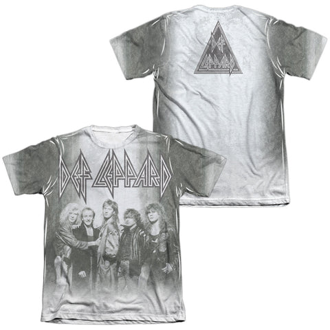Def Leppard Special Order The Band (Front/Back Print) Men's Regular Fit 65% Poly 35% Cotton Short-Sleeve T-Shirt