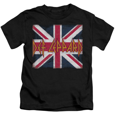 Def Leppard Special Order Union Jack Juvenile 18/1 100% Cotton Short-Sleeve T-Shirt