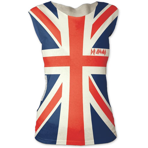 Def Leppard Union Jack Women's Tapered T-Shirt