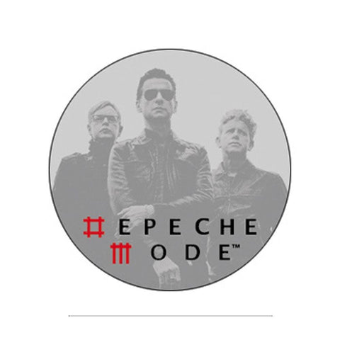 Depeche Mode Grey Photo Button