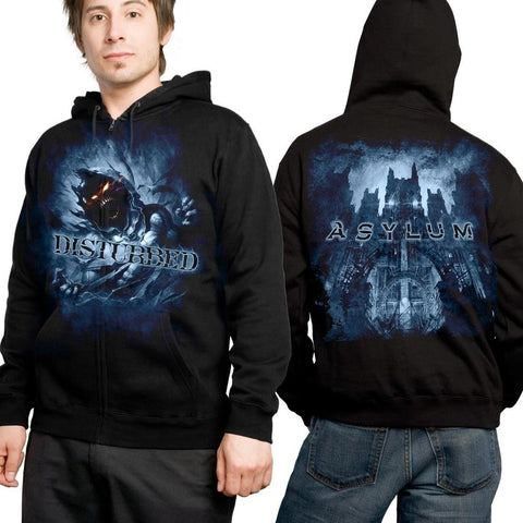 Disturbed Blue Fade Men's Pullover Hoodie