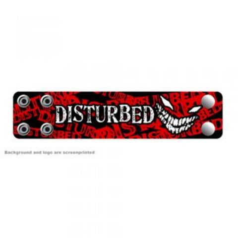 Disturbed Crazy Face Leather Cuff