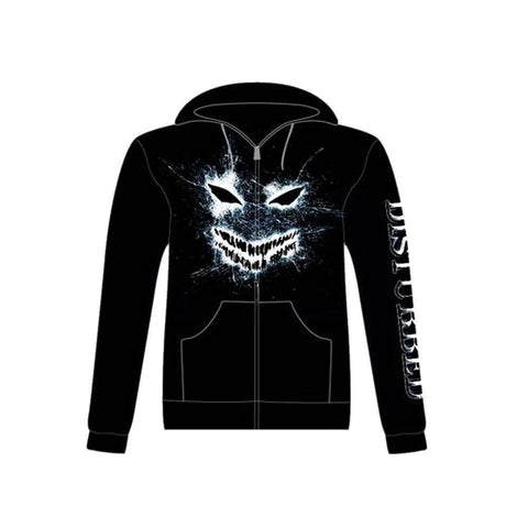 Disturbed Shatter Face Men's Zip Hoodie
