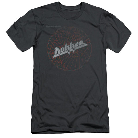 Dokken Special Order Breaking The Chains Men's 30/1 100% Cotton Slim Fit Short-Sleeve T-Shirt