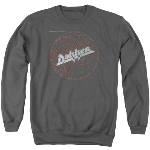 Dokken Special Order Breaking The Chains Men's Crewneck 50% Cotton 50% Poly Long-Sleeve Sweatshirt