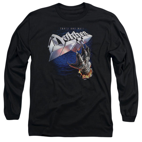 Dokken Special Order Tooth And Nail Men's 18/1 Long Sleeve 100% Cotton T-Shirt