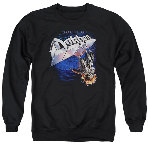 Dokken Special Order Tooth And Nail Men's Crewneck 50% Cotton 50% Poly Long-Sleeve Sweatshirt